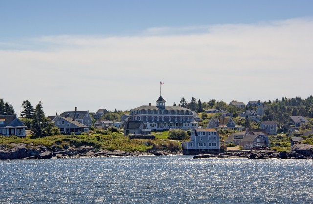 Monhegan village, first glimpse from the sea